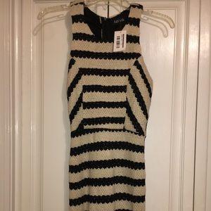 NWT Fabrik Beige and Black Stripe Dress